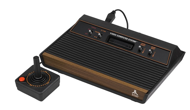 a classic game console with controller